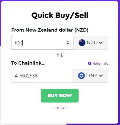 buying chainlink in nzd